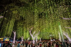 Light and Sound Show at Ayala Triangle Royalty Free Stock Photo