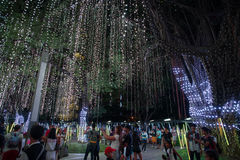 Light and Sound Show at Ayala Triangle Royalty Free Stock Photography