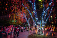 Light and Sound Show at Ayala Triangle Royalty Free Stock Images