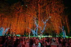 Light and Sound Show at Ayala Triangle Stock Photography