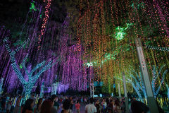Light and Sound Show at Ayala Triangle Royalty Free Stock Image