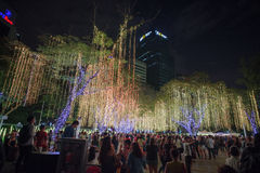 Light and Sound Show at Ayala Triangle Stock Photo
