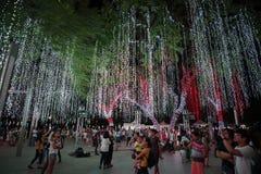 Light and Sound Show at Ayala Triangle Stock Photos