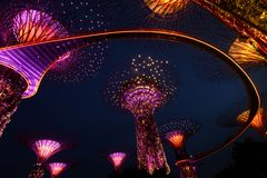 Singapore -Light and sound show royalty free stock images