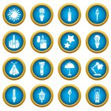 Light source icons set, simple style. Light source icons set. Simple illustration of 16 light source vector icons for web Stock Photo