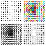 100 light source icons set vector variant. 100 light source icons set vector in 4 variant for any web design isolated on white Stock Images