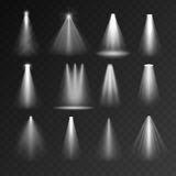 Light sources set Royalty Free Stock Image