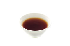 Light soy sauce in bowl isolated on white Royalty Free Stock Photos