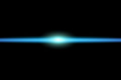 Light in space. Illustration of a blue light in space royalty free illustration