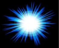 Light Sparkle with Blue Colours Stock Photos