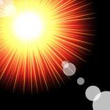 Light Sparkle with flares. Stock Photos