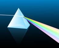 Light spectrum. Ray of light refracting through a pyramid Stock Photo
