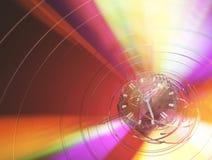 Light Spectrum Glass Clock. Glass clock color light spectrum fantasy abstract red 3d illustration, horizontal Stock Photos