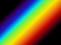 Light Spectrum Graphic. Vector graphic of visible portion of the electromagnetic spectrum Royalty Free Stock Image