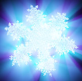 Light Spectrum, Icy Snowflake Royalty Free Stock Image