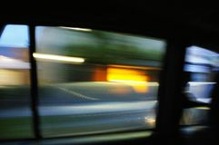 Light Speed. Beautiful Light and Shadow, from inside of running car stock images