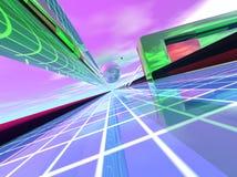Light Speed Data Transfer vector illustration