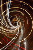 Light spiral in the night Stock Images