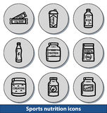 Light sports nutrition icons Stock Photography