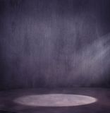 Light spot. Empty grungy scene with light spot royalty free stock images