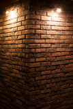 Light spot on a wall. Made of bricks Royalty Free Stock Image