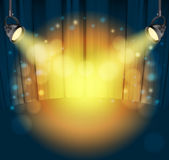 Light spots. On curtains background. vector illustration royalty free illustration