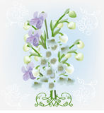Light spring flowers bouquet illustration Royalty Free Stock Photo