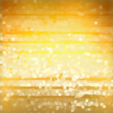 Light squares on yellow background Royalty Free Stock Image