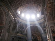 Light through St. Peter's Royalty Free Stock Photography