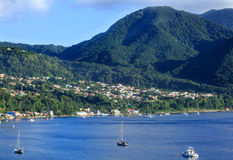 Light on St Thomas Hills. Harbor and Resorts in Morning Light on St Thomas Hills Stock Photography