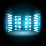Light of stadium, floodlight. Vector illustration Royalty Free Stock Photo