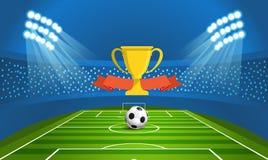 Light stadium mast vector illustration. Stadium Royalty Free Stock Photo