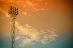 Light stadium or Sports lighting Royalty Free Stock Photography