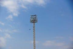 Light stadium or Sports lighting against blue sky Stock Images