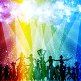 Light stage background. With dancing people Royalty Free Stock Photography
