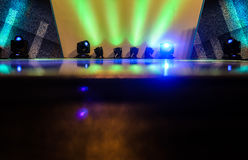 Light on Stage. White Green Light on Stage Stock Photo