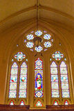 Light Through Stained Glass Window Royalty Free Stock Image