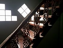 Light on staircase Royalty Free Stock Photos