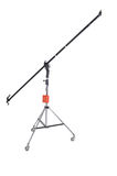 Light Stand. With boom arm on a white background Stock Images
