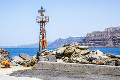 Light station of Fira Royalty Free Stock Photography