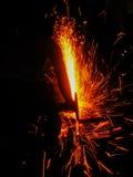 Light steel cutting Stock Photo