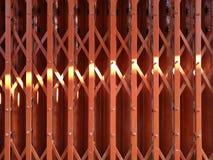 Light on steel door stretch Royalty Free Stock Image