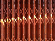Light on steel door stretch. Sunlight on steel door stretch royalty free stock image