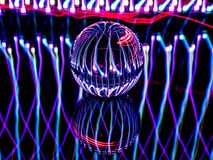 The Lensball Looks Like an Orb on a Circuit Board royalty free stock photo