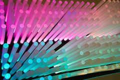 Light sticks. An array of colorful cylinders. Check out others in the series royalty free stock photography