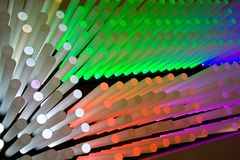 Light Sticks. An array of colorful cylinders. Check out others in the series royalty free stock photos