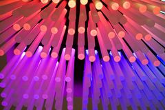 Light Sticks. An array of colorful cylinders. Check out others in the series royalty free stock images
