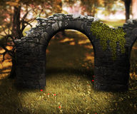 Stone Arch Premade Background Royalty Free Stock Image