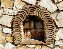 Light in a stone niche Stock Photography