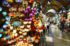 Light store in Grand Bazaar of Istanbul, Turkey Stock Images